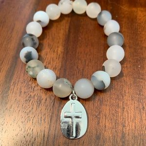 Jewelry - Handmade natural agate gemstone bracelet